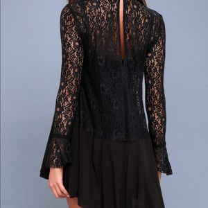 NWT Lace Mockneck Fred People Dress
